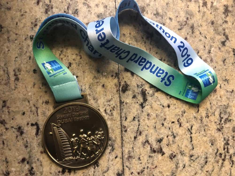 Medaille Dubai Marathon 2019
