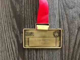 Hamburg Marathon 2019 Medaille Rückansicht