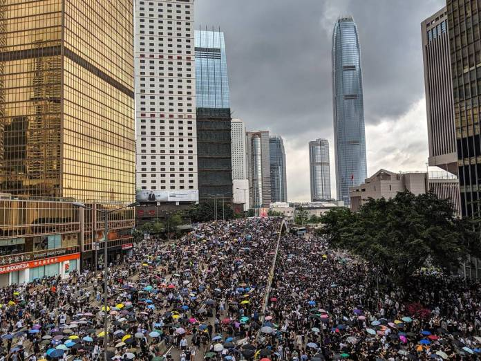 Pro-democracy protests in Hong Kong on June 12, 2019. Photo: Studio Incendo/Flickr.