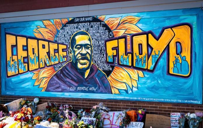 Mural by local artists in Minneapolis, near the spot where George Floyd died. Photo: Unsplash