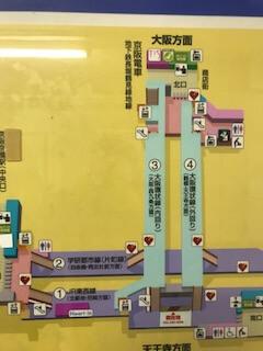 京橋駅構内図