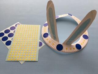 紙皿うさぎ飾り