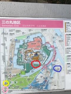 大阪城の地図