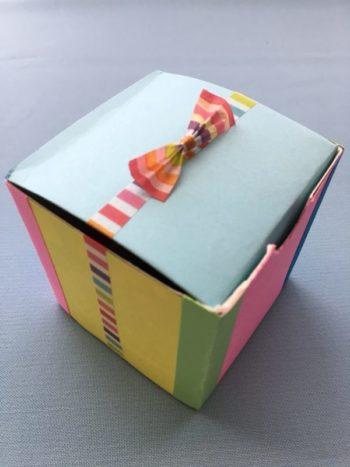 牛乳パックで作ったギフトボックス