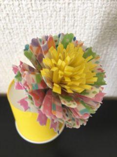 紙皿で作った一輪の花