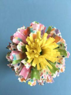 紙皿でおしゃれに花束を手作り