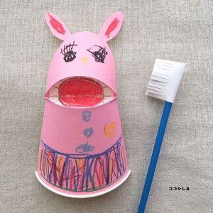 6月4日虫歯予防デー工作 歯磨き製作