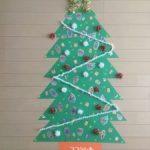 画用紙で作るクリスマスツリー