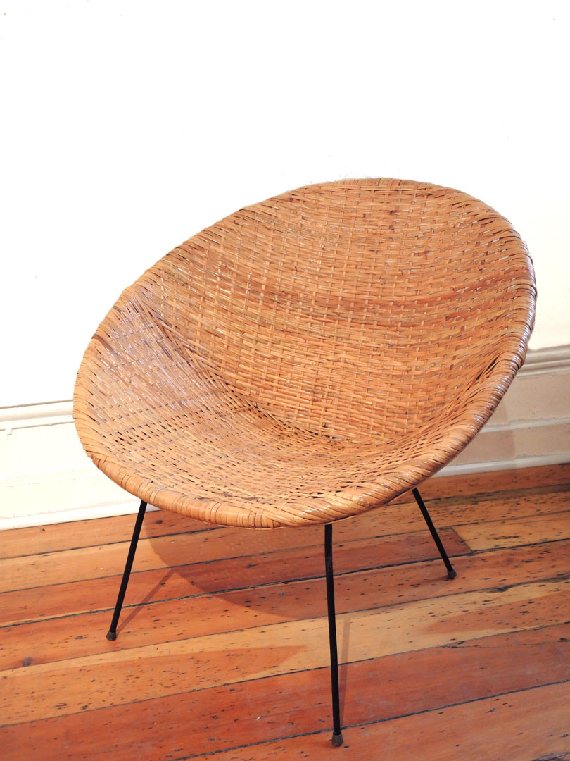 Rattan Basket Chair  INabstracto