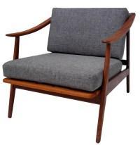 Mid Century Modern Teak Lounge Chair: SOLD