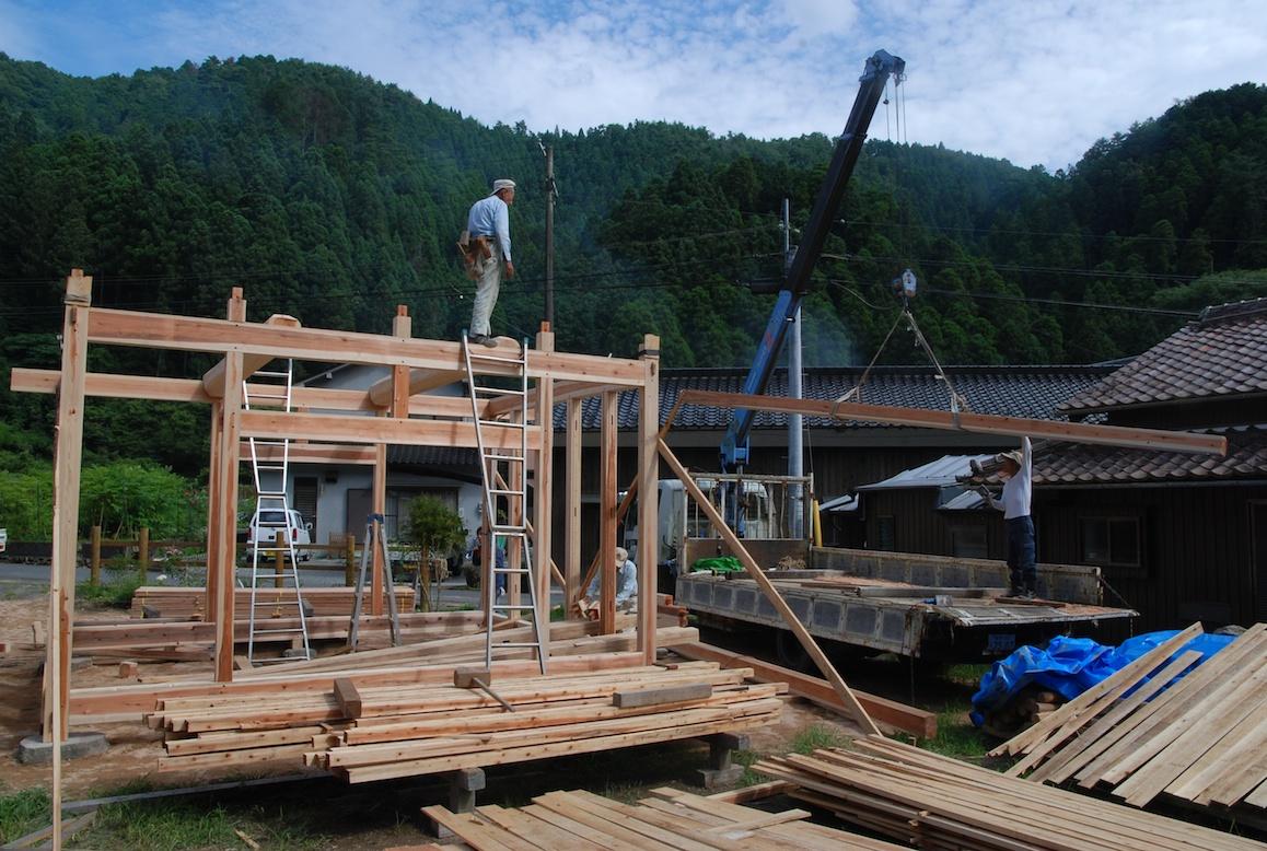 Construction Dune Maison Au Japon La Campagne Au Japon