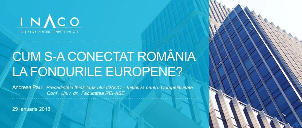 Contribuția INACO la conferința dedicată repornirii absorbției fondurilor europene organizate de BNR și CursdeGuvernare