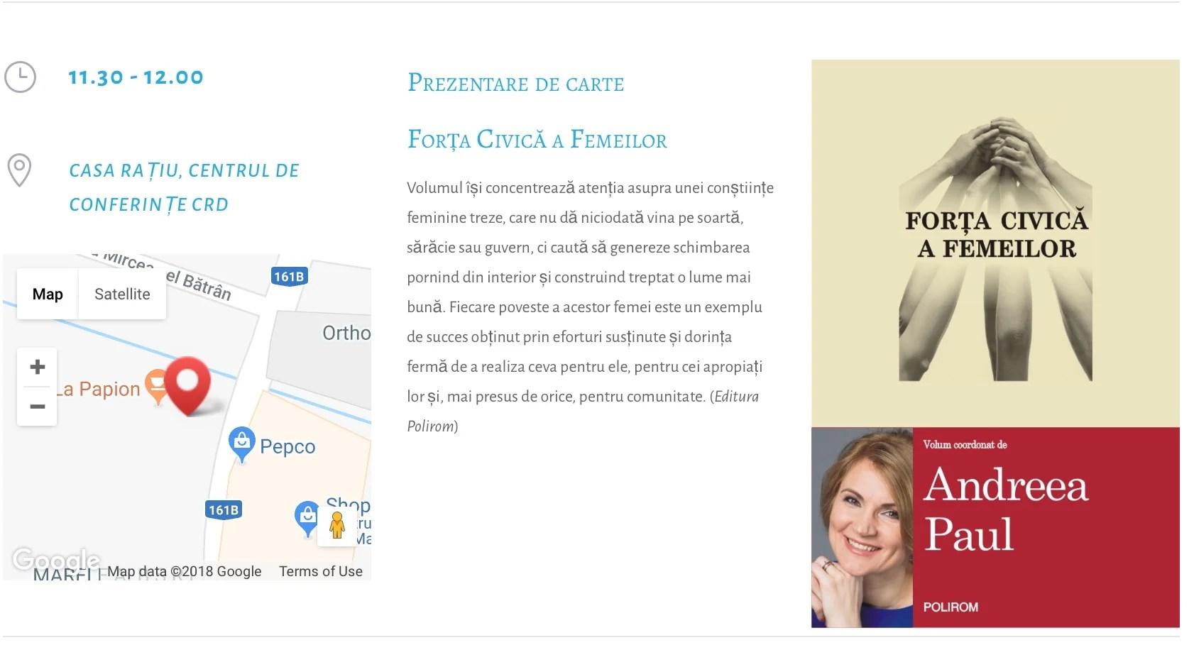 Lansarea volumului Forța civică a Femeilor la Turda, 10 iunie, 11.30, la Casa Rațiu
