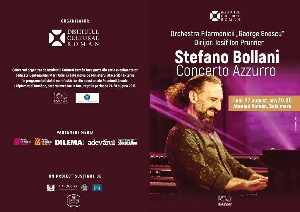 """""""Concerto Azzurro"""" Stefano BOLLANI, Ateneul Român, 27 august, orele 20.00"""