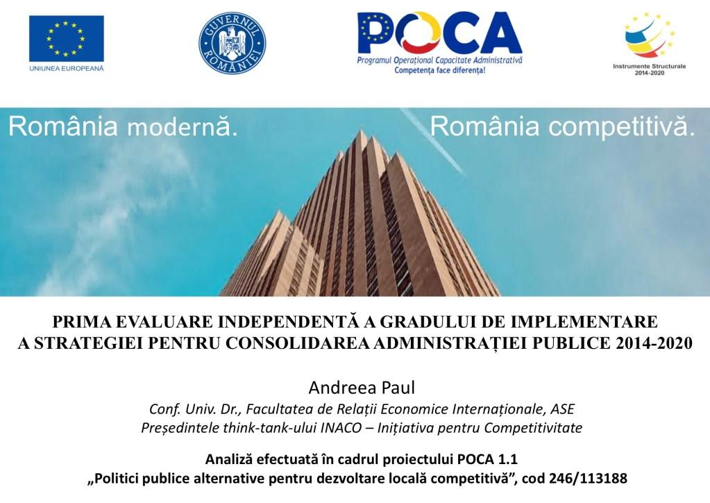 Dintre cele 16 direcţii specifice de acţiune pentru modernizarea administrației publice niciuna NU este realizată