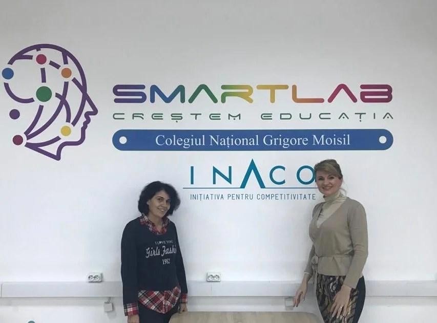 Al patrulea Smart Lab creat de INACO la Colegiul Național Grigore Moisil