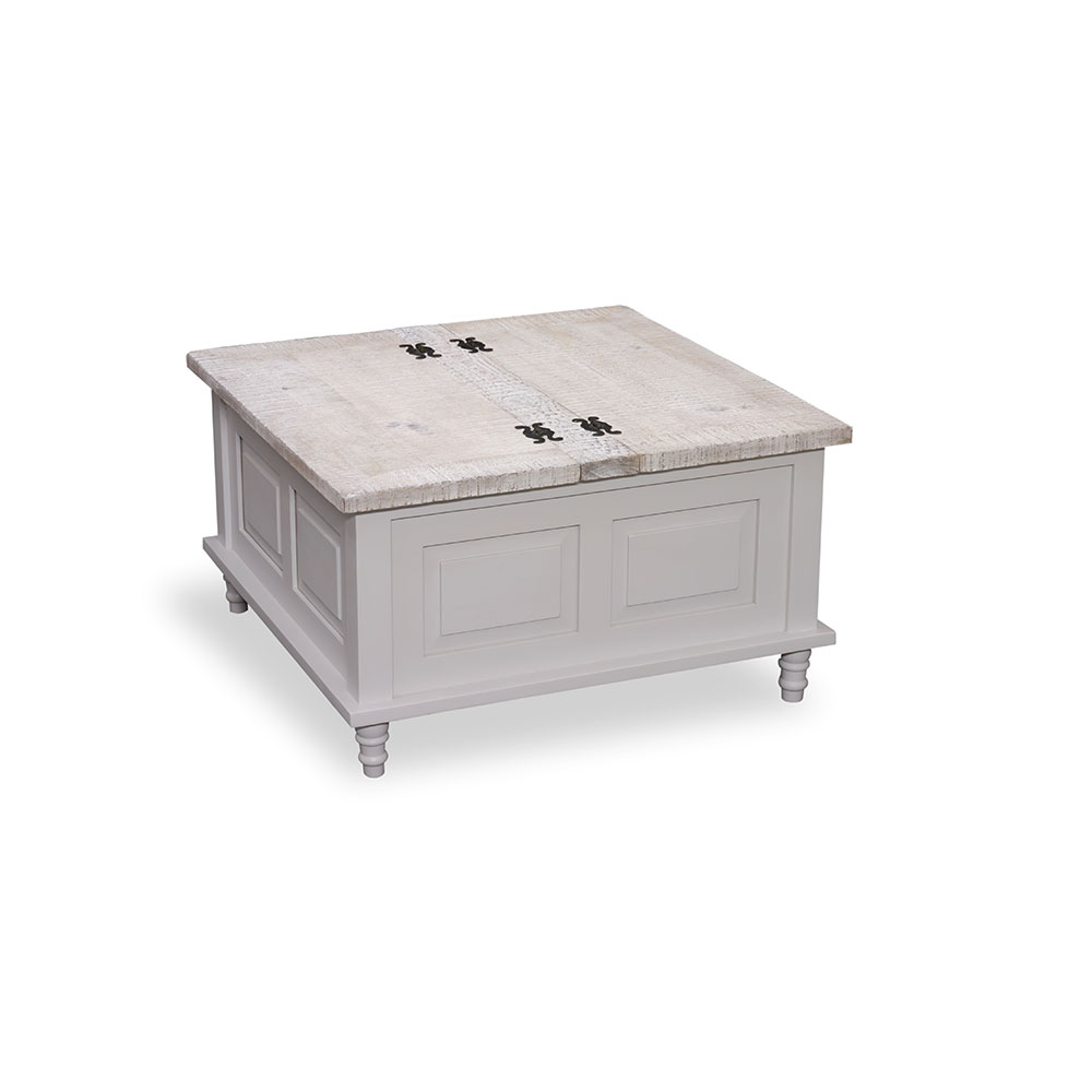 square coffee table trunk white beach house painted furniture