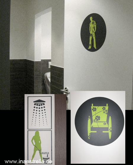 Schilder/Piktogramme für Toiletten