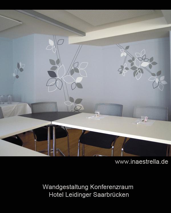 Wandtattoos von Ina Estrella Wagner für Hotel Leidinger Saarbrücken