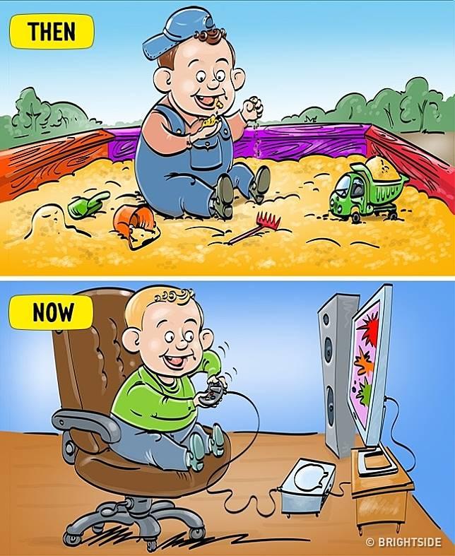 1 8 13 Komik ini Perlihatkan Beda antara anak zaman sekarang dan dulu!