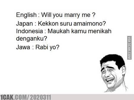 3 31 10 Gambar Meme Lucu 'Bahasa Jawa' ini bikin Kamu Ngakak Lihatnya