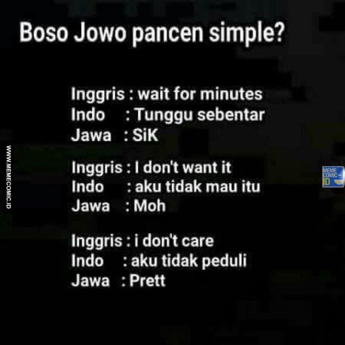 10 Gambar Meme Lucu Bahasa Jawa ini bikin Kamu Ngakak
