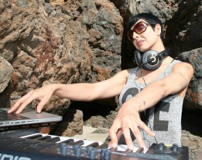 DJ Inaia Beach Setup