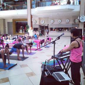 DJing at Lululemon Heartbeats event in Aventura Mall
