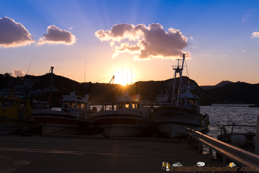 坊勢島 夕暮れ サンセット 綺麗な写真