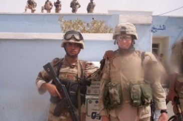 "Photo: Holly Sammons. ""Abu Gahraib MEDCAP."""