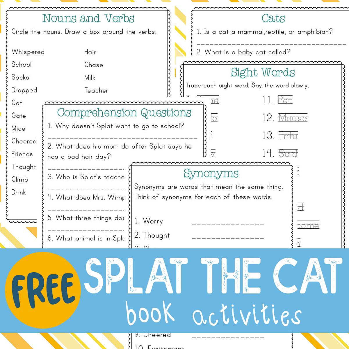 Splat The Cat Book Activities