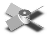 Axial turbine for ship