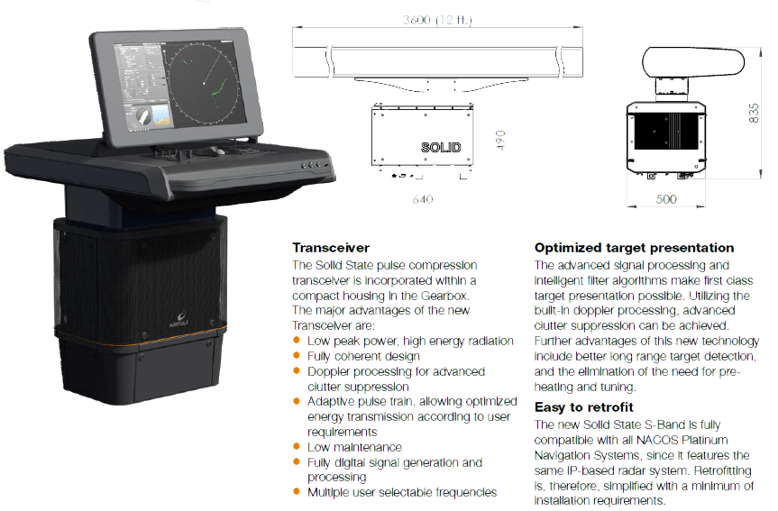 Wartsila, NACOS Platinum Solid State S-Band Radar Specification
