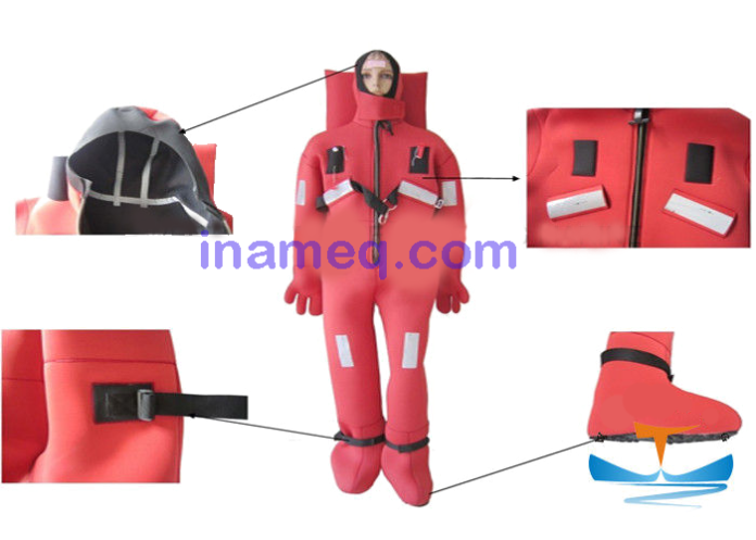 Safety equipment component complete for marine