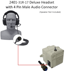 Deluxe Headset with 4 Pin Male Audio Connector