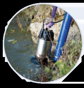 High Flow Manual Submersible Pump Application