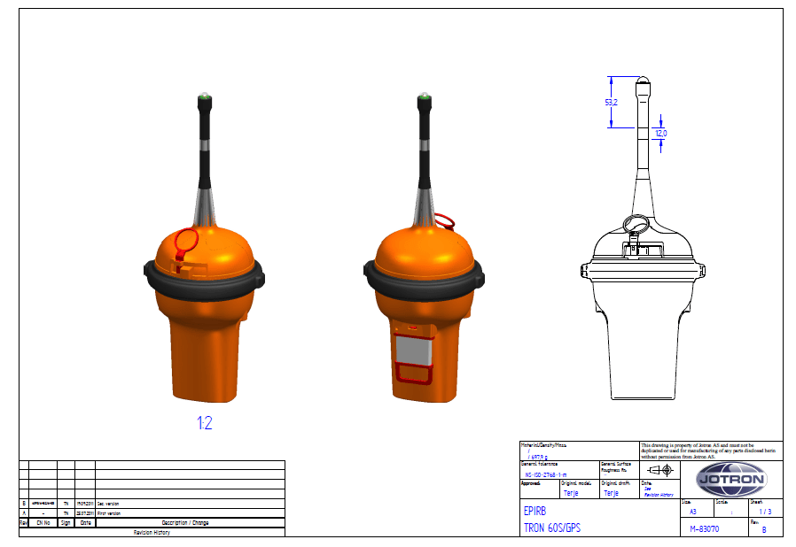 Dimension Drawing Tron 60GPS