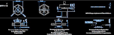 Lightweight Liquid Level Sensor Mounting Flanges