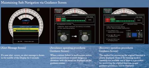 Maintaining Safe Navigation via Guidance Screen