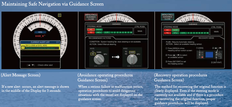 Maintaining Safe Navigation via Guidance Screen