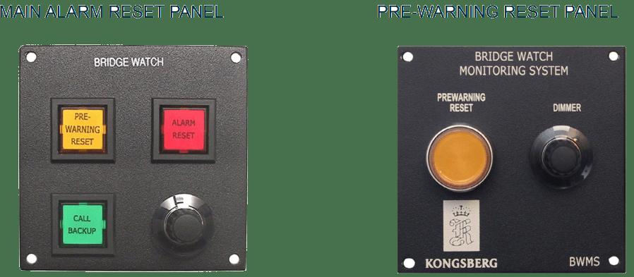 Main Alarm Reset Panel And Pre-Warning Reset Panel