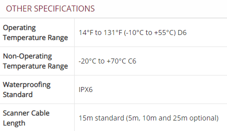 Other Specifications