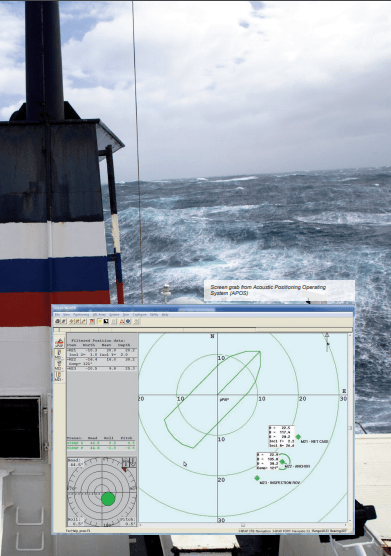 Screen grab from Acoustic Positioning Operating System (APOS)