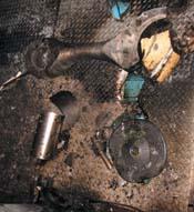 Broken piston rod