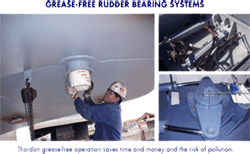 GREASE-FREE RUDDER BEARING SYSTEMS