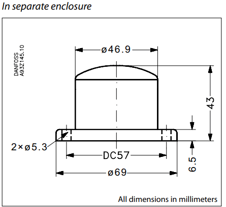 Temperature transmitter type MBT 9110 dimensions