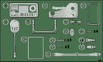 NEW RAY73 VHF RADIO PARTLIST