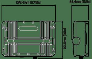 NEW - Raymarine CP370 Digital Sonar Module Dimensions