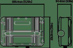 Raymarine CP470 CHIRP™ Sonar Module Dimension