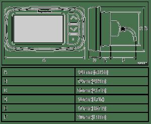 Raymarine i40 Instrument Displays Dimensions